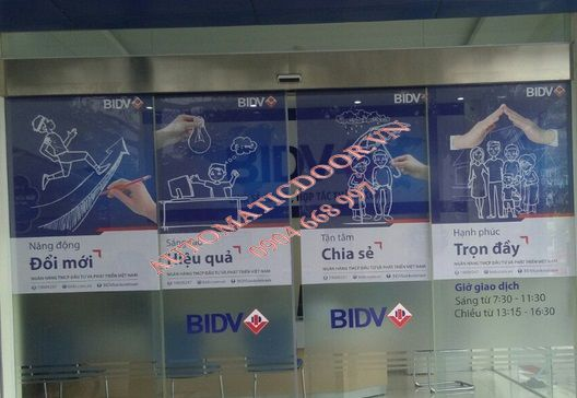 Cửa kính tự động ngân hàng BIDV