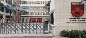 Mẫu cổng xếp inox trường học quốc tế