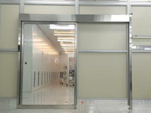 Bộ cửa khung inox nhà máy