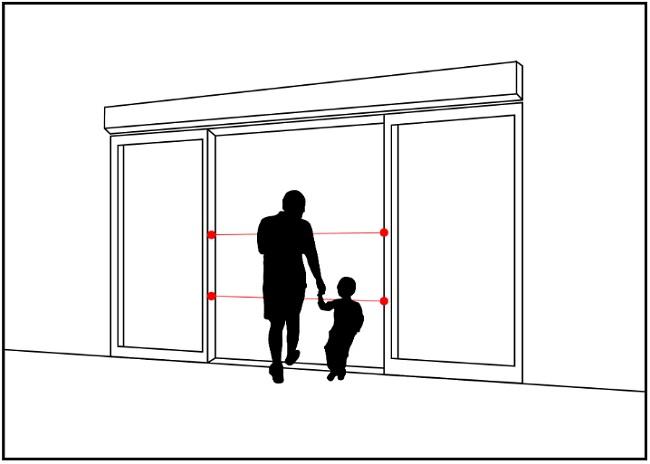Ứng dụng cảm biến an toàn trên cửa tự động