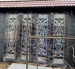 mô tơ cổng mở 4 cánh tự động xếp gấp