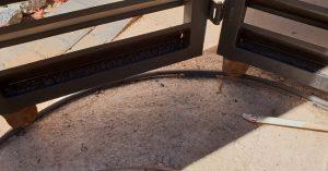 góc bo tròn theo trụ cổng hoặc tường