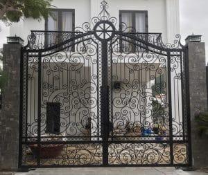 mô tơ cổng sắt âm sàn biệt thự