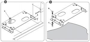 2. Làm đế mô tơ cổng lùa BULL TURBO