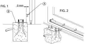 5. Định vị đế bê tông đặt mô tơ