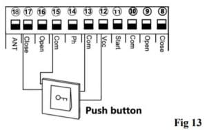 13. kết nối nút nhấn đóng cổng