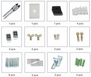 2. Những bộ phận chính của thiết bị mở cổng tay đòn