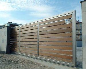 Mô tơ cổng lùa cổng gỗ