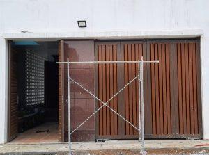 Ráp mô tơ cổng âm sàn cho cổng chính và cổng phụ