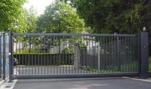 cổng lùa không ray an toàn sạch đẹp