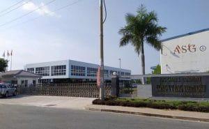 cổng lùa tự động nhà máy ASG KCN TÂN KIM LONG AN