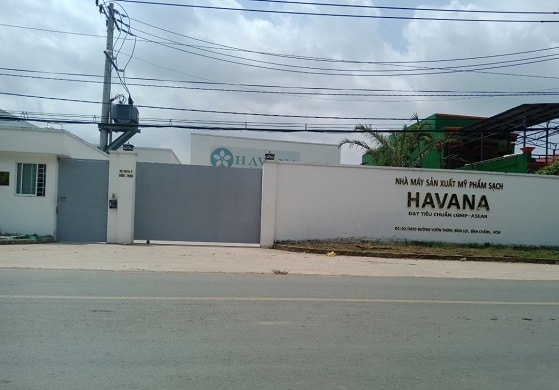 Cổng lùa tự động nhà máy sản xuất mỹ phẩm HAVANA