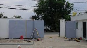dựng cổng lùa nhà máy HAVANA - VƯỜN THƠM