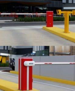 thanh chắn barrier trên đường