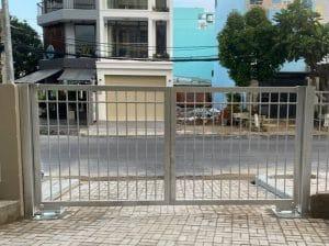 cửa cổng âm sàn tự động