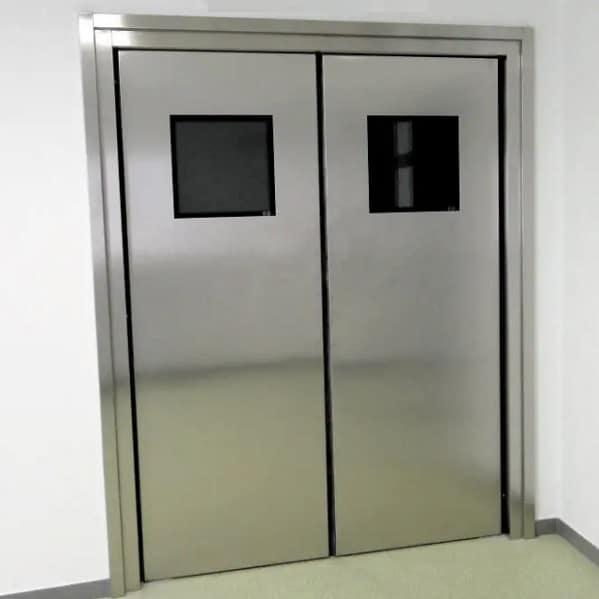 Đặc điểm thiết kế, ưu điểm và tính năng lắp đặt cửa ra vào hai cánh