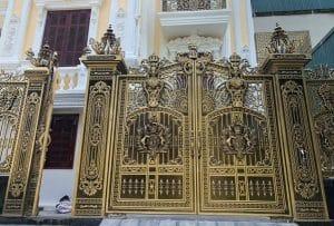 Bộ cổng nhôm đúc biệt thự phú gia