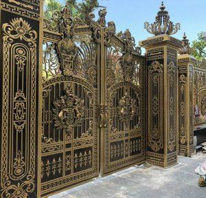 Trụ cổng nhôm đúc