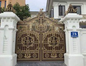 hàng rào - cổng - đèn nhôm đúc