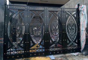 mẫu cổng sắt CNC hoa văn