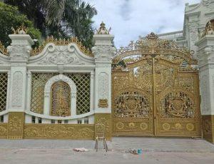 trang trí cửa cổng biệt thự nhôm đúc
