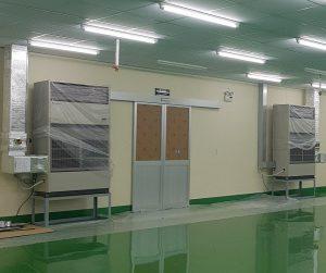 Cửa nhôm kính lùa tự động nhà máy KCN