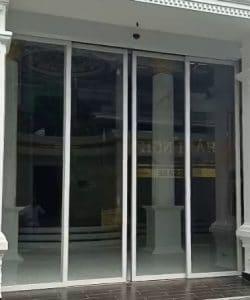 cửa nhôm kính lùa xếp lớp